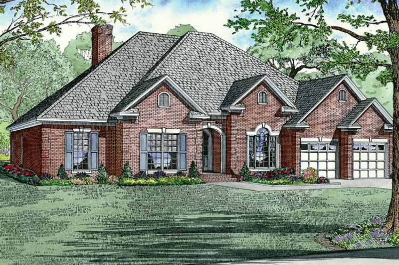 Country Exterior - Front Elevation Plan #17-2682 - Houseplans.com