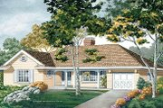 Traditional Style House Plan - 3 Beds 2 Baths 1471 Sq/Ft Plan #47-147 Exterior - Front Elevation
