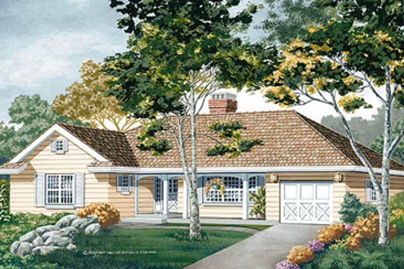 Traditional Style House Plan - 3 Beds 2 Baths 1471 Sq/Ft Plan #47-147