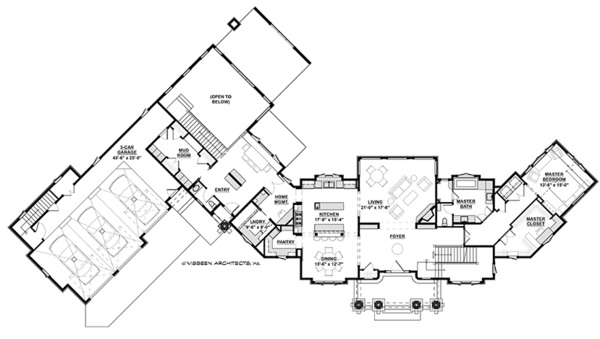 Craftsman Floor Plan - Main Floor Plan Plan #928-292