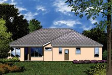 House Plan Design - Mediterranean Exterior - Rear Elevation Plan #1015-24