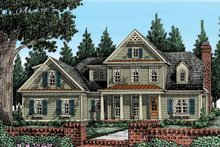 Country Exterior - Front Elevation Plan #927-374