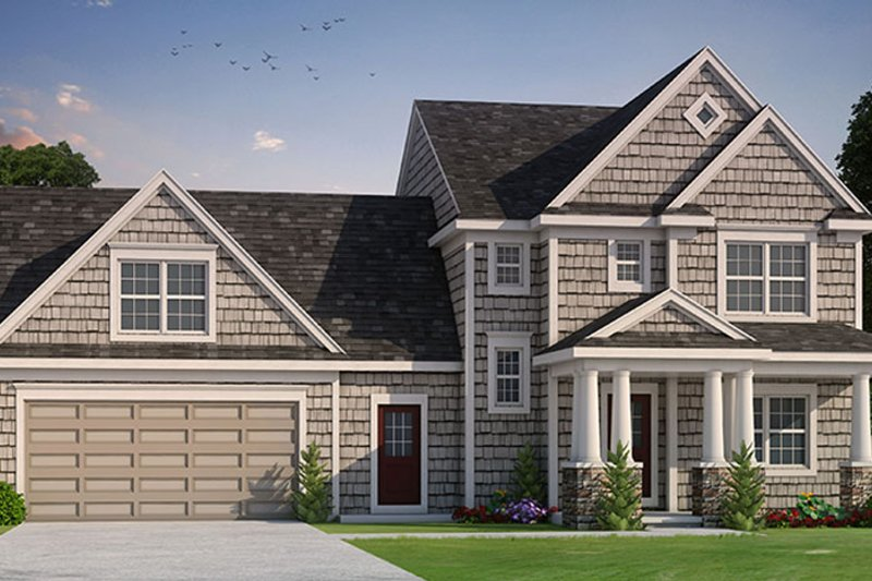 Colonial Exterior - Front Elevation Plan #20-2248