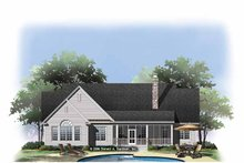 Ranch Exterior - Rear Elevation Plan #929-876