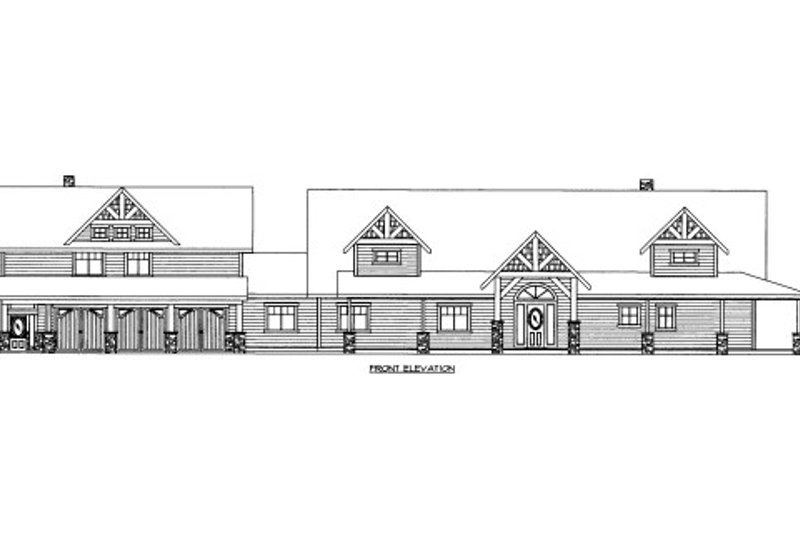 Home Plan - Ranch Exterior - Front Elevation Plan #117-632