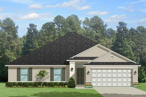 Architectural House Design - Traditional Exterior - Front Elevation Plan #1058-120