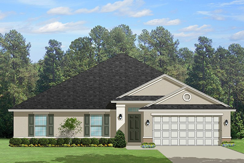 Traditional Exterior - Front Elevation Plan #1058-120 - Houseplans.com