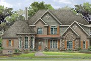 European Style House Plan - 4 Beds 3.5 Baths 4678 Sq/Ft Plan #1057-2 Exterior - Front Elevation