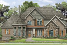 Architectural House Design - European Exterior - Front Elevation Plan #1057-2