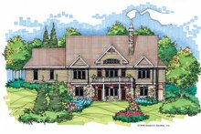 Country Exterior - Rear Elevation Plan #929-416