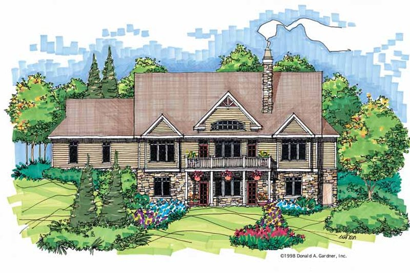 Country Exterior - Rear Elevation Plan #929-416 - Houseplans.com