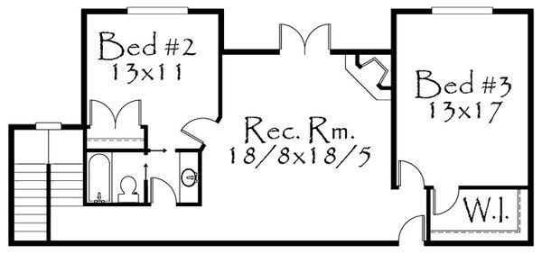 Prairie Floor Plan - Lower Floor Plan Plan #509-417