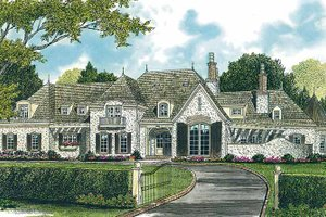 European Exterior - Front Elevation Plan #453-378
