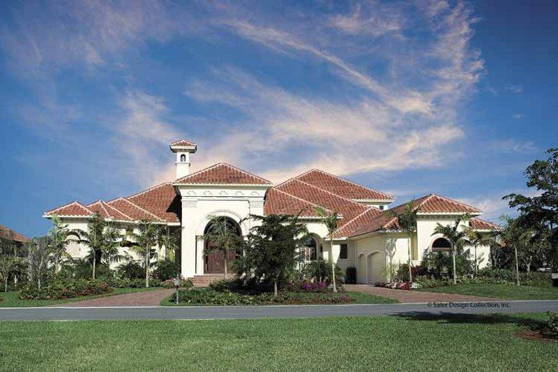 House Plan Design - Mediterranean Exterior - Front Elevation Plan #930-416