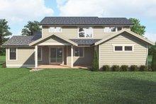 House Plan Design - Craftsman Exterior - Rear Elevation Plan #1070-131