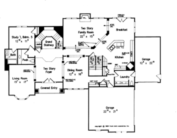 Dream House Plan - European Floor Plan - Main Floor Plan #927-199
