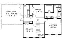Colonial Floor Plan - Upper Floor Plan Plan #1053-65