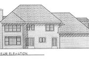 Modern Style House Plan - 3 Beds 2.5 Baths 2504 Sq/Ft Plan #70-438 Exterior - Rear Elevation