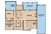 European Style House Plan - 4 Beds 3.5 Baths 4035 Sq/Ft Plan #923-3 Floor Plan - Lower Floor Plan