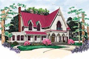 Architectural House Design - Craftsman Exterior - Front Elevation Plan #72-975