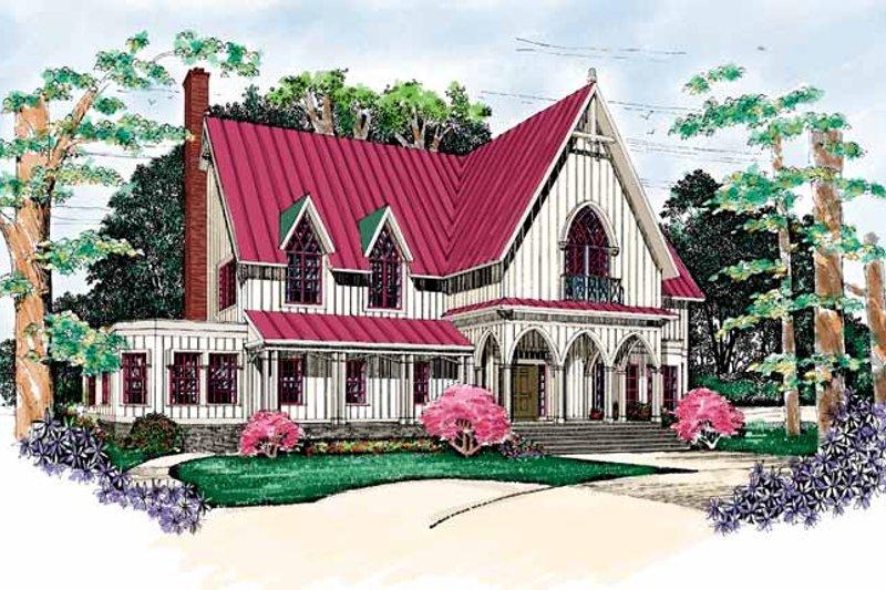 House Blueprint - Craftsman Exterior - Front Elevation Plan #72-975