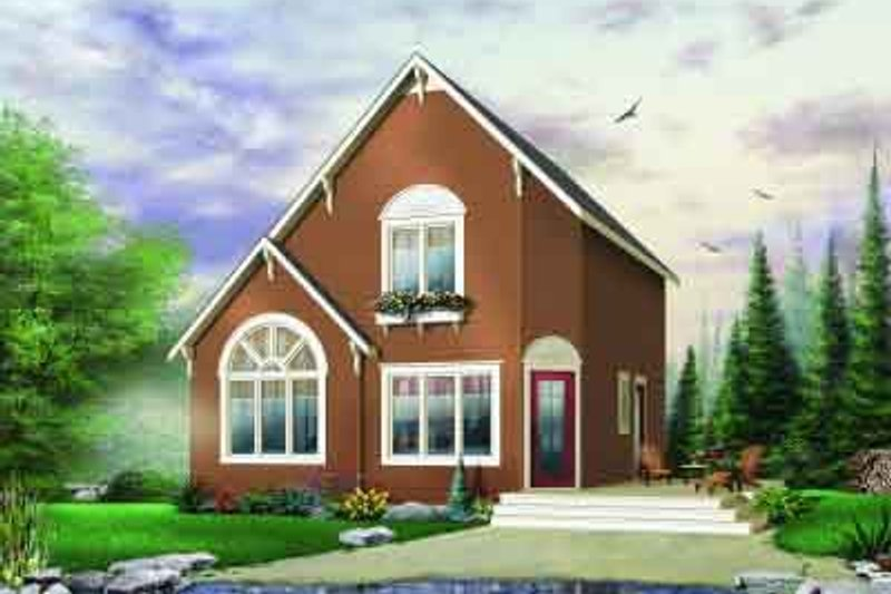 Cottage Exterior - Front Elevation Plan #23-577