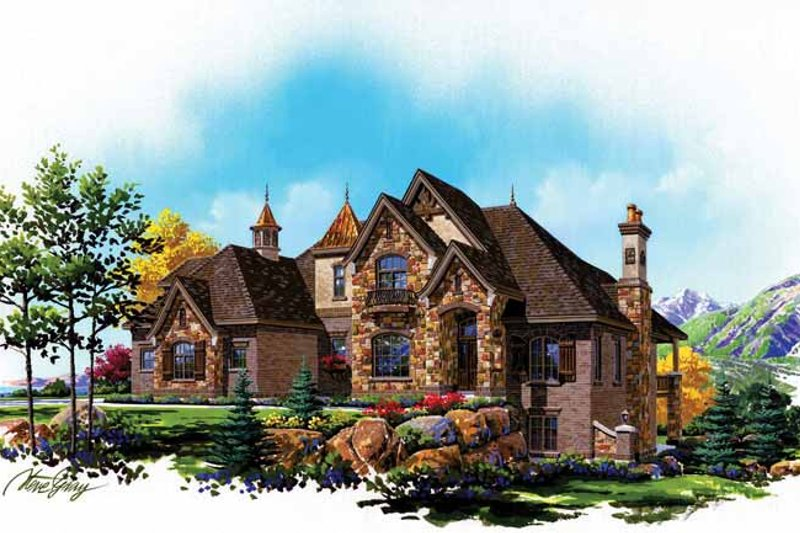 Country Exterior - Front Elevation Plan #945-79