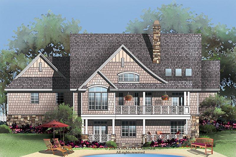 Craftsman Exterior - Rear Elevation Plan #929-919 - Houseplans.com