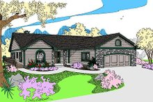 Traditional Exterior - Front Elevation Plan #60-651