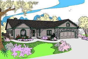 Home Plan - Traditional Exterior - Front Elevation Plan #60-651