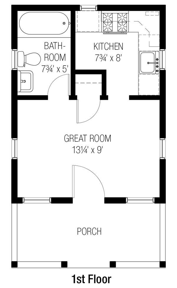 Bungalow Floor Plan - Main Floor Plan Plan #915-9