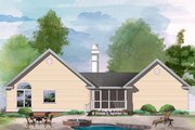 Country Style House Plan - 3 Beds 2 Baths 1313 Sq/Ft Plan #929-54 Exterior - Rear Elevation
