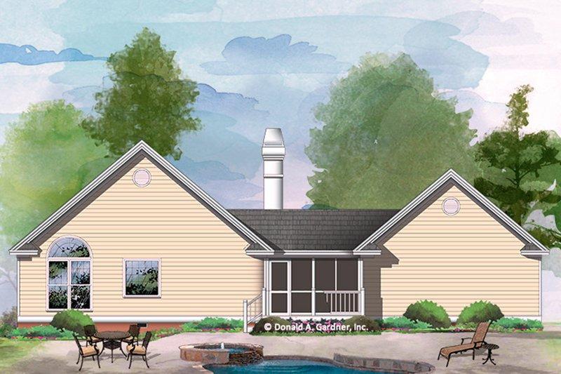 Country Exterior - Rear Elevation Plan #929-54 - Houseplans.com