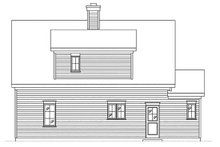 House Plan Design - Country Exterior - Rear Elevation Plan #22-603
