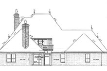 European Exterior - Rear Elevation Plan #310-707
