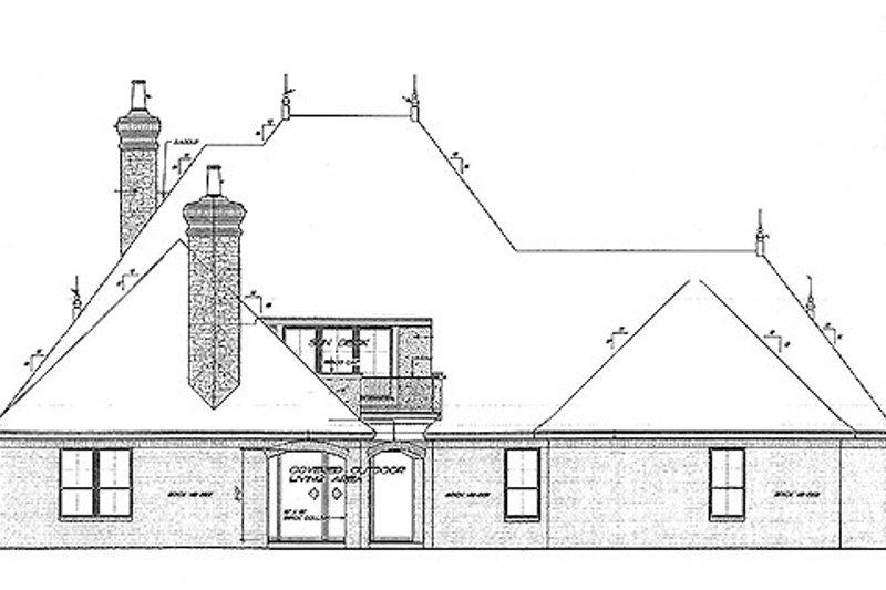 European Exterior - Rear Elevation Plan #310-707 - Houseplans.com