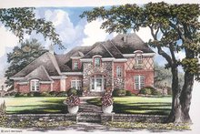 House Plan Design - Tudor Exterior - Front Elevation Plan #952-259