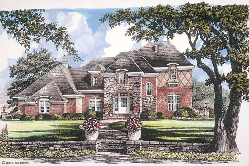 Tudor Exterior - Front Elevation Plan #952-259