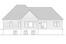 Ranch Exterior - Rear Elevation Plan #1010-44