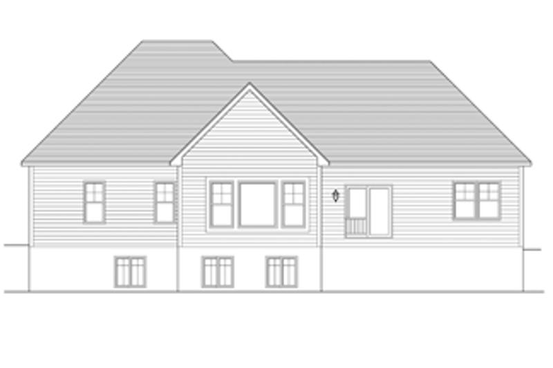 Ranch Exterior - Rear Elevation Plan #1010-44 - Houseplans.com