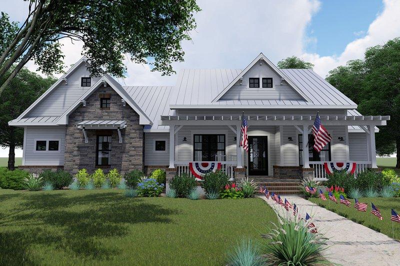 House Plan Design - Farmhouse Exterior - Front Elevation Plan #120-256