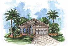 House Plan Design - Mediterranean Exterior - Front Elevation Plan #1017-81