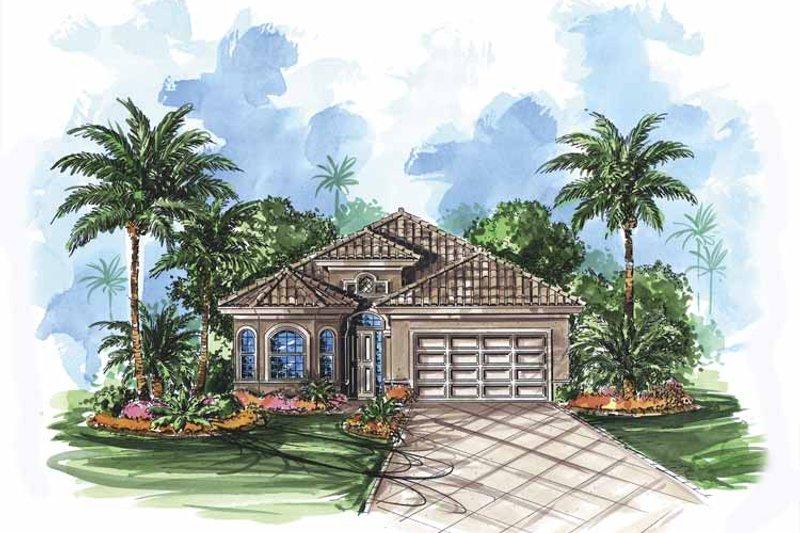 Dream House Plan - Mediterranean Exterior - Front Elevation Plan #1017-81