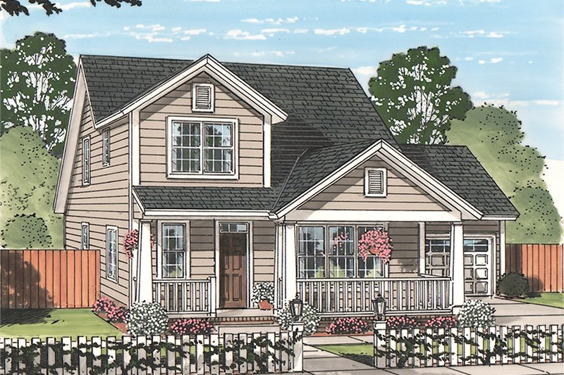 Architectural House Design - Country Exterior - Front Elevation Plan #513-2164