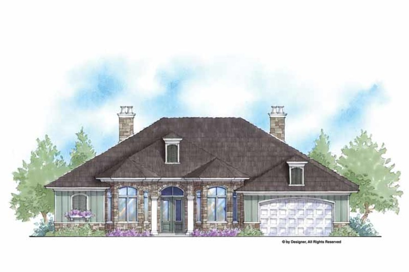Country Exterior - Front Elevation Plan #938-58 - Houseplans.com