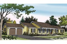 Country Exterior - Front Elevation Plan #314-226