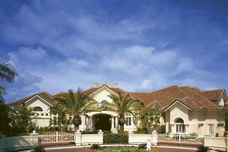 Mediterranean Exterior - Front Elevation Plan #930-412 - Houseplans.com