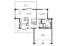 Log Floor Plan - Main Floor Plan Plan #964-11