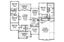 Ranch Floor Plan - Main Floor Plan Plan #513-2159