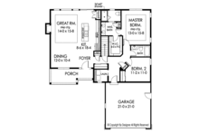 Ranch Floor Plan - Main Floor Plan Plan #1010-178